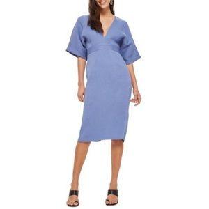Topshop V-plunge Midi Dress periwinkle US 6